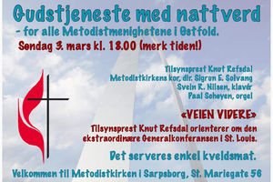 Kommende søndag flyttes gudstjenesten til Sarpsborg!