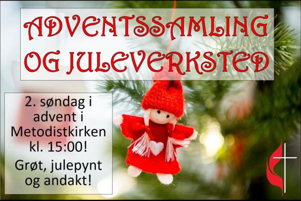 Adventssamling med juleverksted 08.12.!