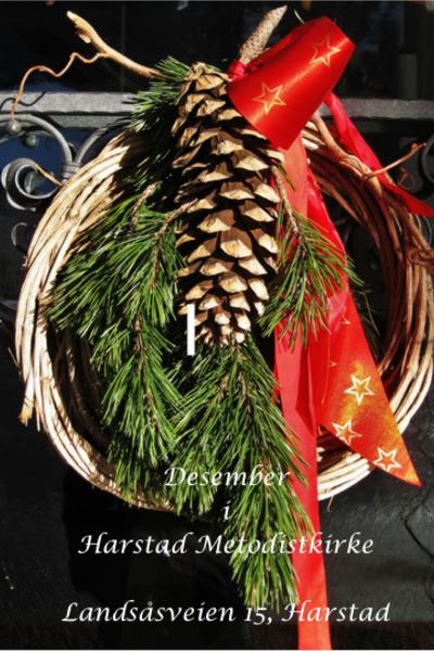 Kirkekalenderen for desember 2017 i Harstad Metodistkirke