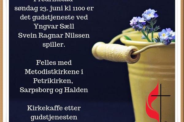 Fellesgudstjeneste i Fredrikstad 23. juni.
