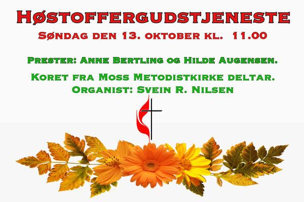 Høstoffergudstjeneste 13.10.19