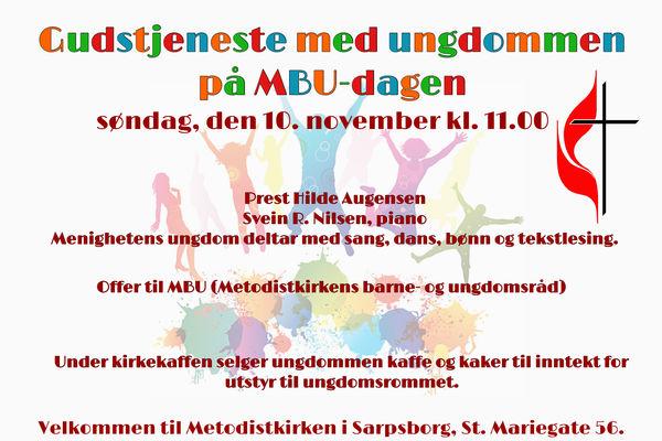 Gudstjeneste på MBU-dagen 10. november 2019.