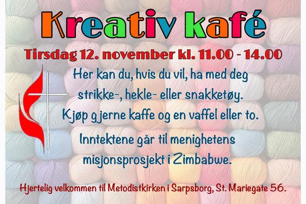 Kreativ kafé 12. november 2019